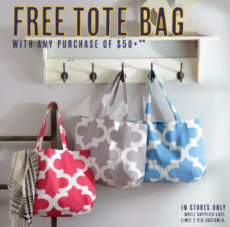 Free Tote Bag $50 or More Purchase