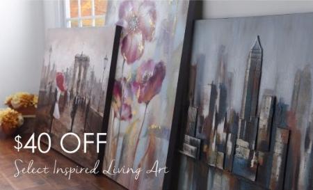 $40 Off Select Inspired Living Art