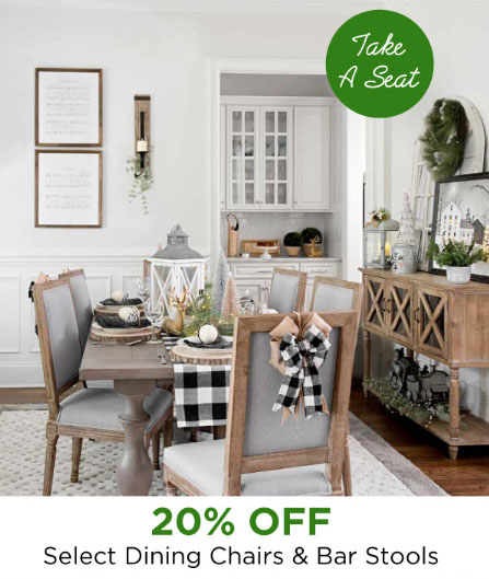 Shop In Store And Take 20 Off On Select Dining Chairs Bar Stools For A Limited Time
