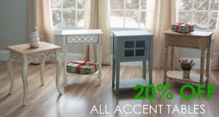 20% Off All Accent Tables