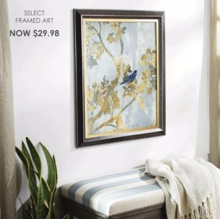 Select Framed Art Now $29.98