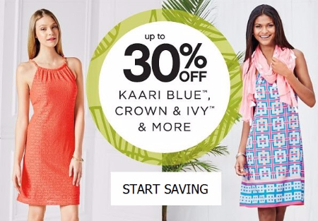 Up to 30% Off Kaari Blue, Crown and Ivy and More