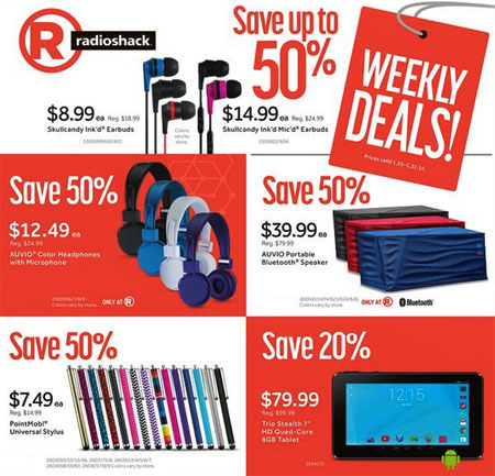Shop Our Weekly Specials at Radio Shack