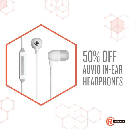 Save 50% on AUVIO Earbuds at Radio Shack