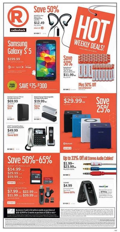 Weekly Specials at RadioShack