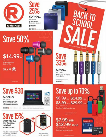 Back to School Sale at Radio Shack
