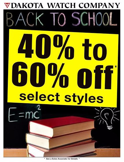 40% to 60% Off Select Styles