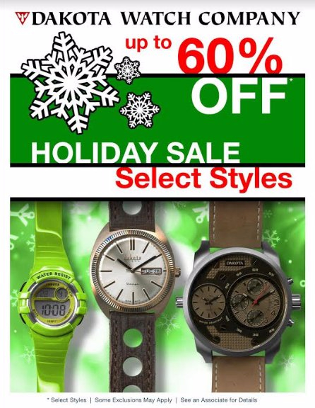 Holiday Sale up to 60% Off