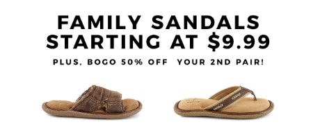 941eaefed0d The Shoppes at Eastchase ::: Family Sandals Starting at $9.99 ...