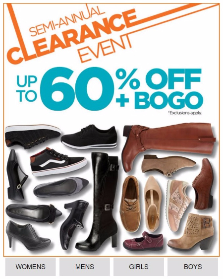 Semi-Annual Clearance Event up to 60% Off Plus BOGO