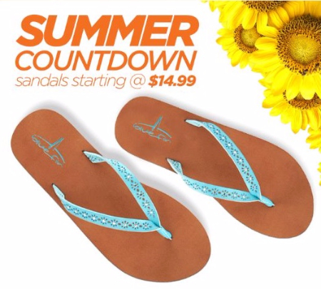 Sandals Starting at $14.99