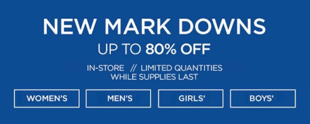 Up to 80% Off New Mark Downs
