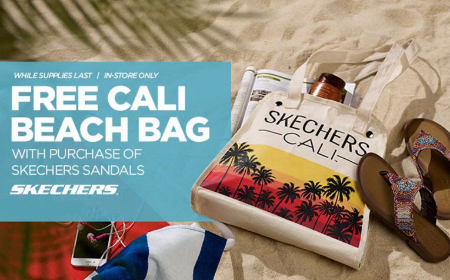 Free Cali Beach Bag with Purchase of Skechers Sandals