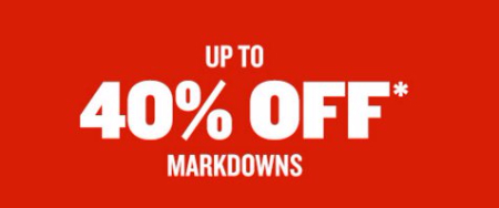 Up to 40% Off Markdowns