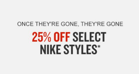 4be680bb8e01 Merritt Square Mall ::: 25% Off Select Nike Styles ::: Finish Line