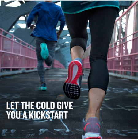 Let the Cold Give You a Kickstart at Finish Line
