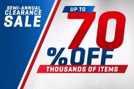 Up to 70% Off Semi-Annual Clearance Sale