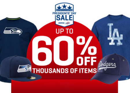 Up to 60% Off Presidents' Day Sale