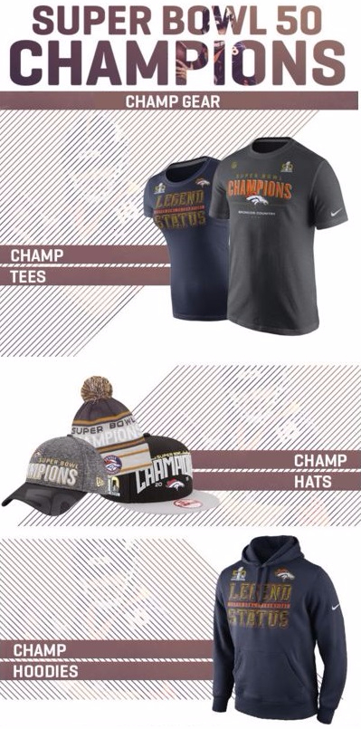 Super Bowl 50 Champ Gear Is Here