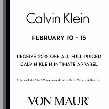 Calvin Klein Intimate Sale