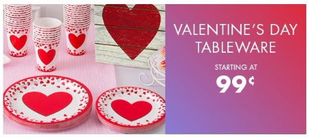 party city valentines day tableware starting at 99