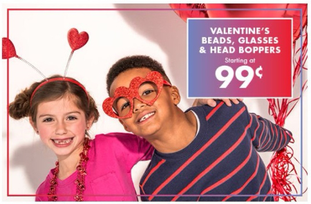 party city valentines beads glasses head boppers starting at 99