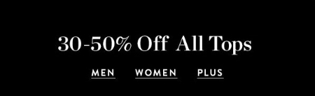30-50% Off All Tops