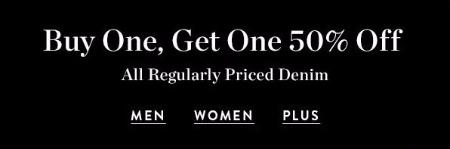 BOGO 50% Off All Regularly Priced Denim