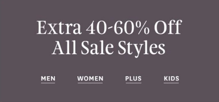 Extra 40–60% Off All Sale Styles