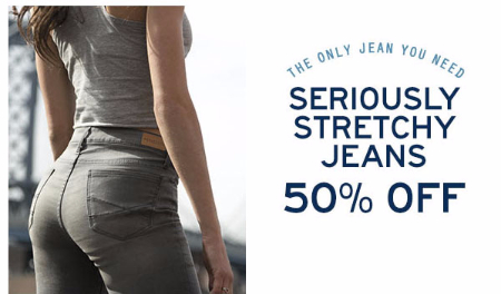50% Off Stretchy Jeans at Aéropostale