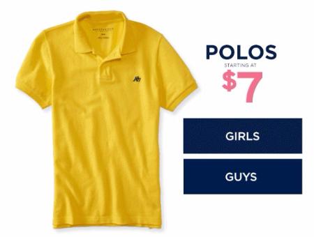 Polos Starting at $7