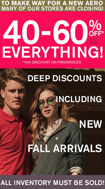 40-60% Off Everything