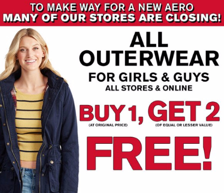 All Outerwear for Girls & Guys Buy 1, Get 2 Free