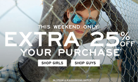 25% Off Your Purchase at Aeropostale