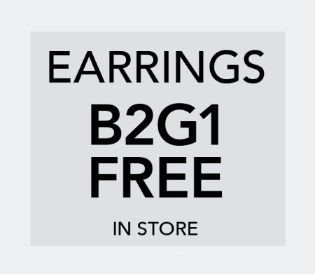 B2G1 Free Earrings at Claires