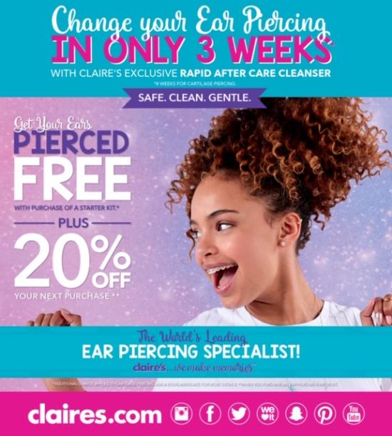 Mt Pleasant Towne Centre Ear Piercing At Claire S Claire S
