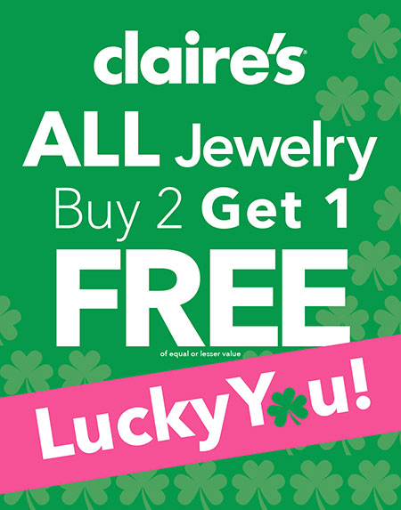 Buy Two, Get One Free Jewelry at Claires