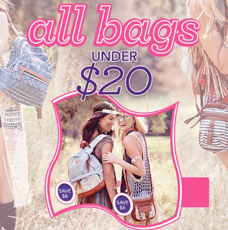 All Bags Under $20 at Claires
