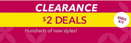 $2 Clearance Deals at Claire's