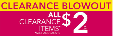 Clearance Blowout at Claire's