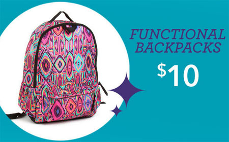 $10 Functional Backpacks at Claires