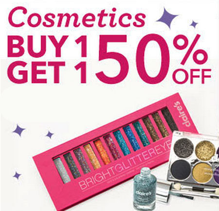 Cosmetics BOGO 50% Off