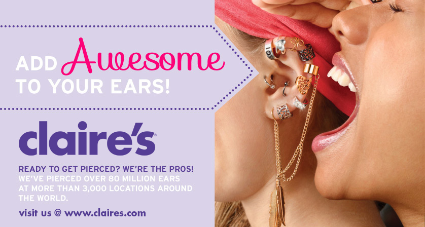 Claire's Ear Piercing