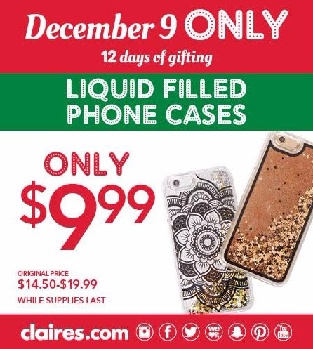 $9.99 Liquid Filled Phone Cases