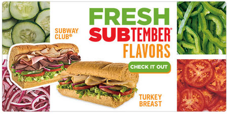 Fresh Subtember Flavors at Subway