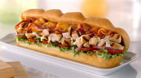 Chicken & Bacon Ranch Melt at Subway