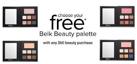 Free Belk Beauty Palette with $60 Beauty Purchase from Belk