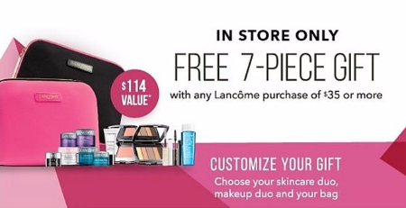 Free 7-Piece Gift with Any Lancôme Purchase