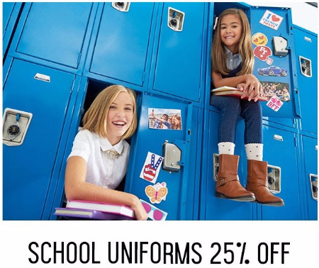 25% Off School Uniforms
