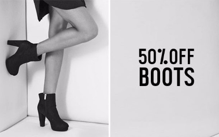 50% Off Boots